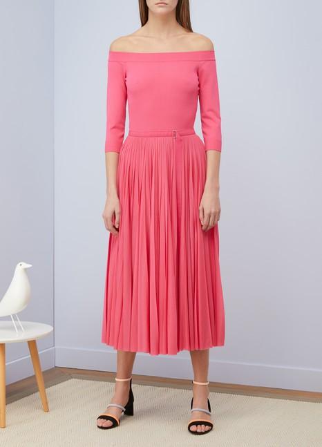 Alexander McQueenOff-the-shoulder midi dress