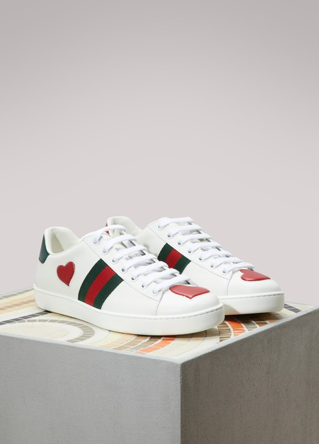 Gucci Embroidered Low-Top Ace Sneakers