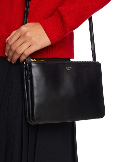 CELINESmall Trio bag in smooth lambskin