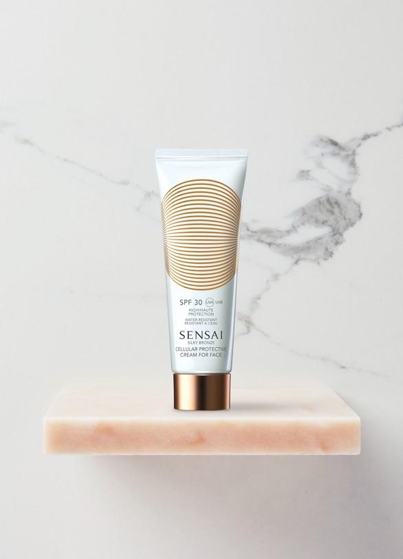 SensaiSilky Bronze Crème Protection Cellulaire Visage SPF 30