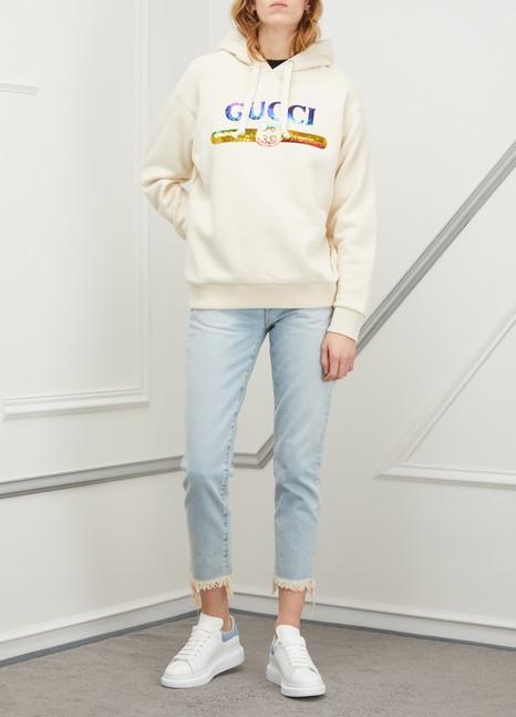 GUCCISweatshirt logo à paillettes