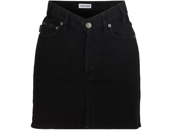 BALENCIAGA V-neck mini-skirt