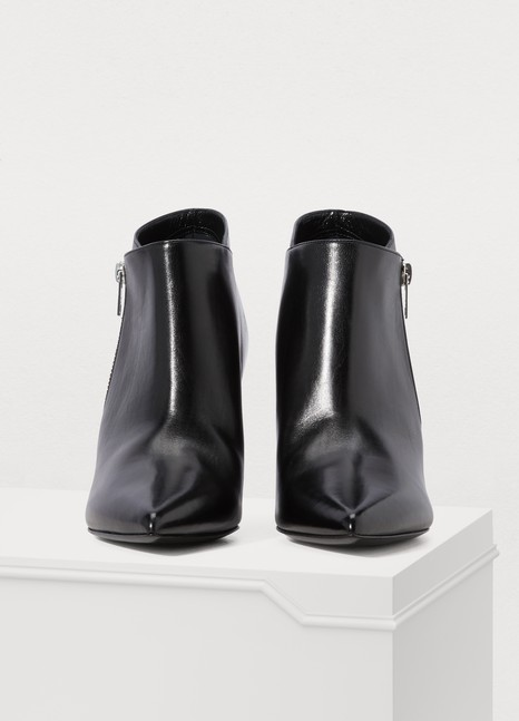 CELINE Celine Sharp zipped boots
