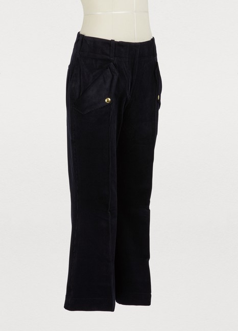 Acne StudiosNavy blue cropped bootflare pants with pockets