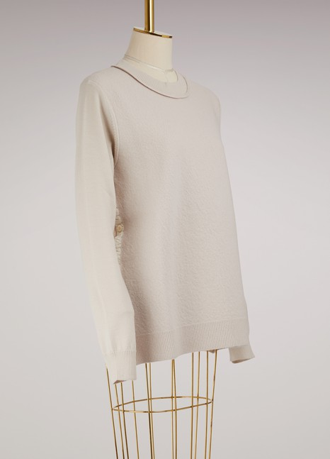 Maison MargielaWool Sweater with Buttons