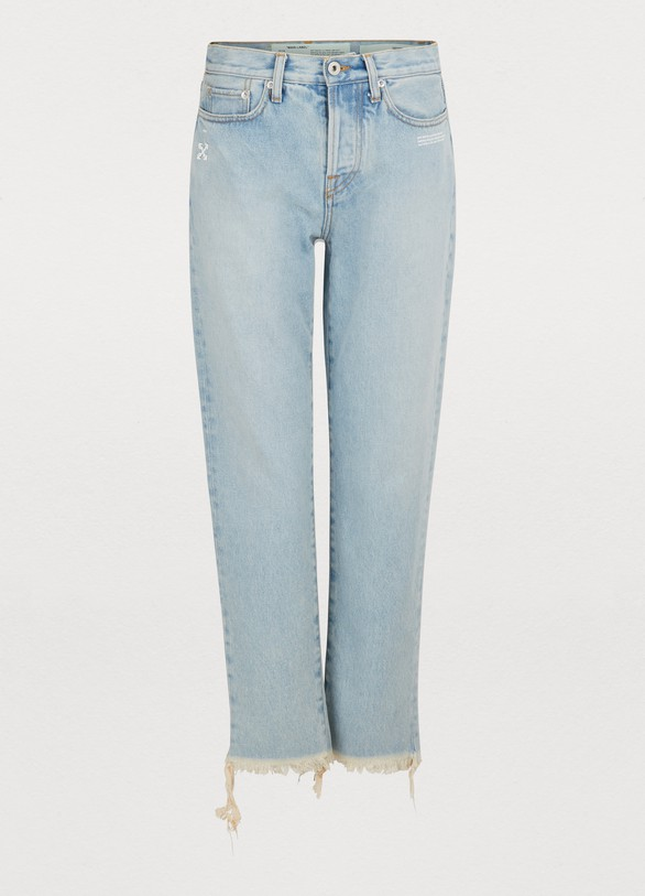 OFF WHITEFaded slim jeans