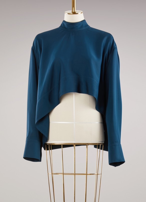 Marni Blouse with Stand Up Collar