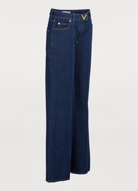 VALENTINOWide-leg denim pants
