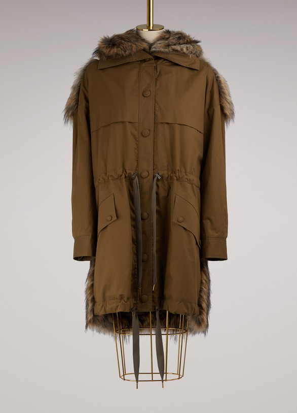 Stella McCartney Gail Faux Fur Coat