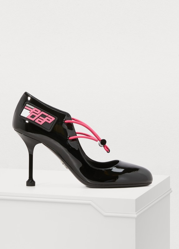 be6842f7653c Prada. Patent leather pumps