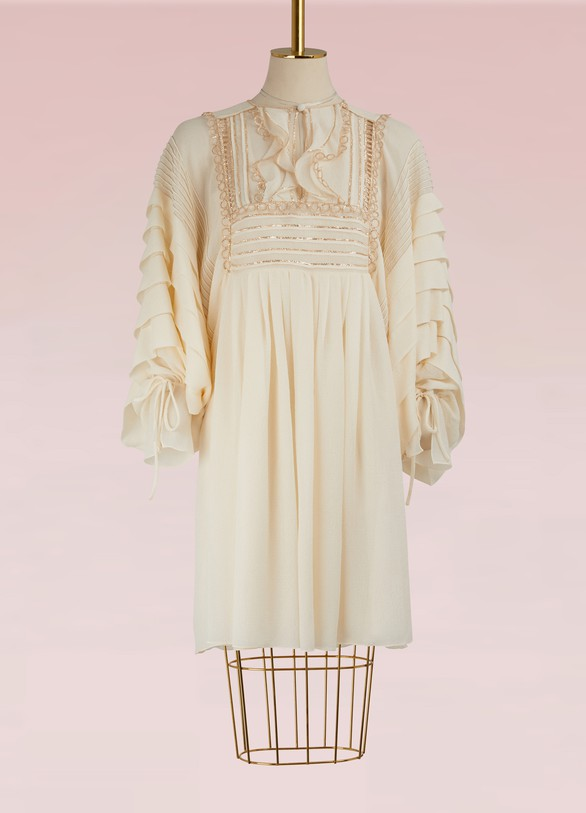 Chloé Silk Mini Dress