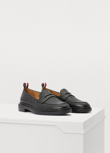 THOM BROWNE Leather loafers