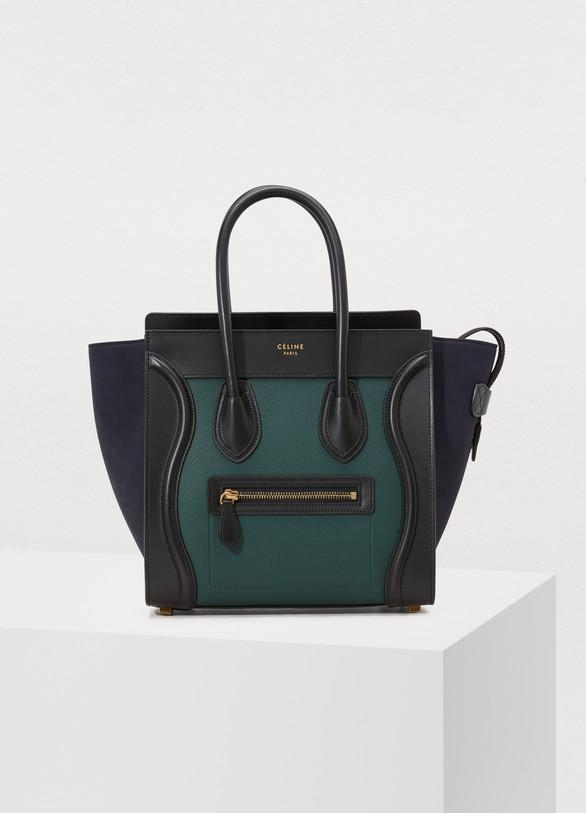 CelineMicro Luggage handbag in grained calfskin