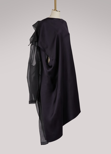 Maison Margiela Silk reversible trench dress