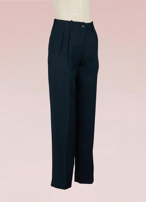 Forte_Forte Darted virgin wool pants
