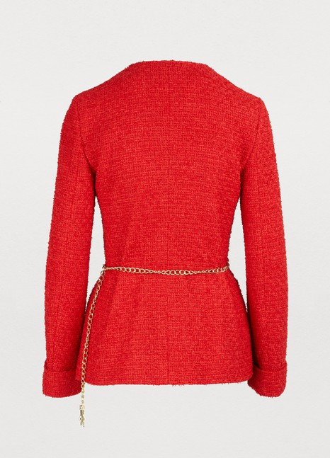 GUCCI Belted tweed jacket