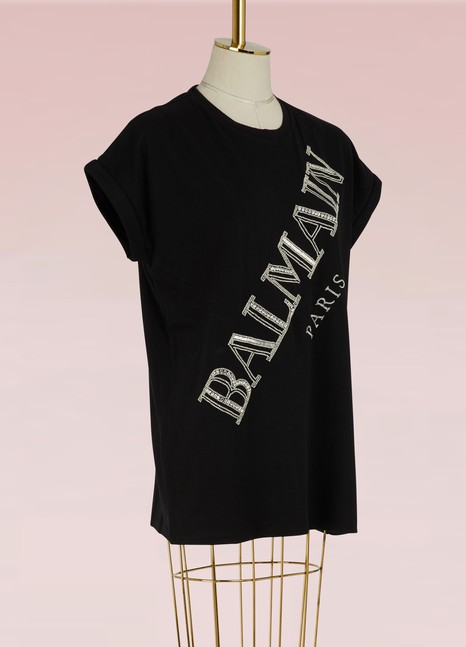 BalmainT-shirt à logo brodé