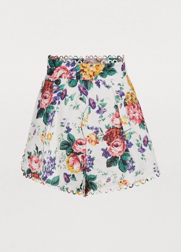 73e50759e Women's Allia linen shorts | Zimmermann | 24 Sèvres
