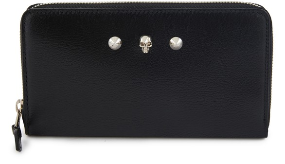 ALEXANDER MCQUEENZip wallet in leather