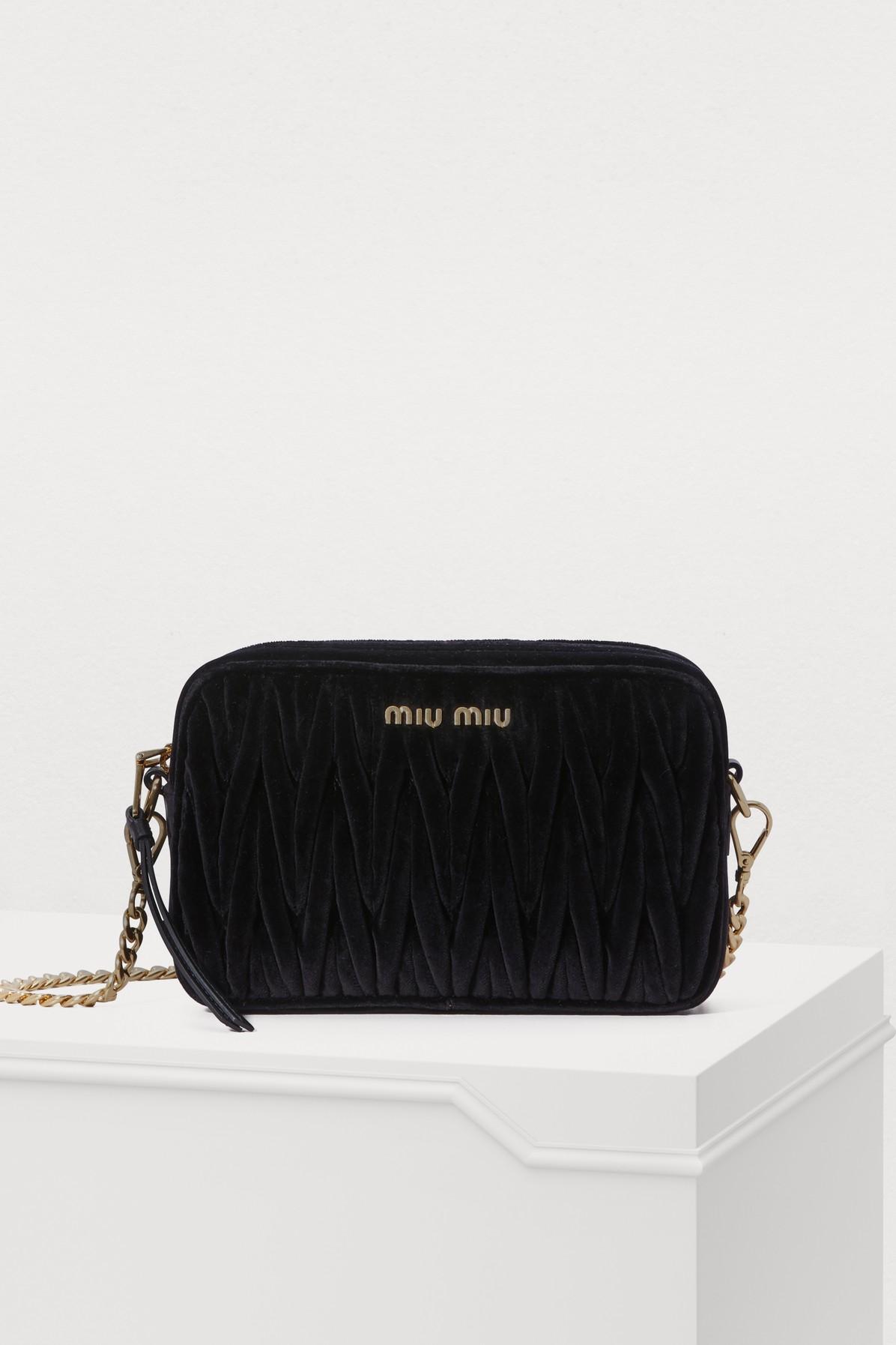 MIU MIU | Velvet Camera Bag | Goxip