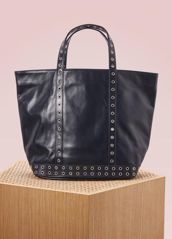 25b98a9e3f Women's Leather and eylets medium+ tote | VANESSA BRUNO | 24S | 24S