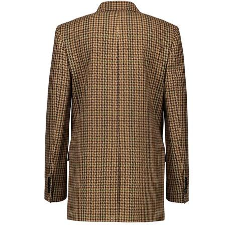 CELINEMenswear-inspired checked woollen jacket
