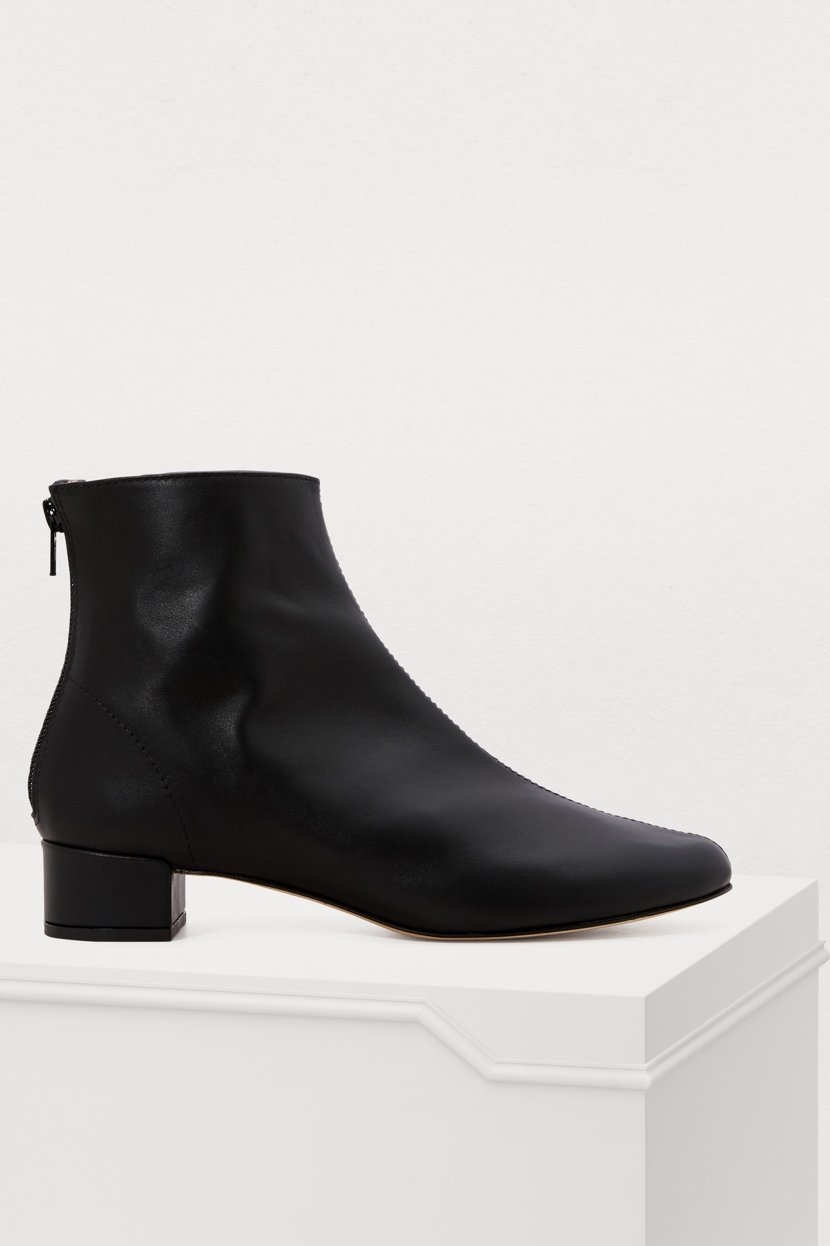 REPETTO | Kitten-Heeled Ankle Boots | Goxip