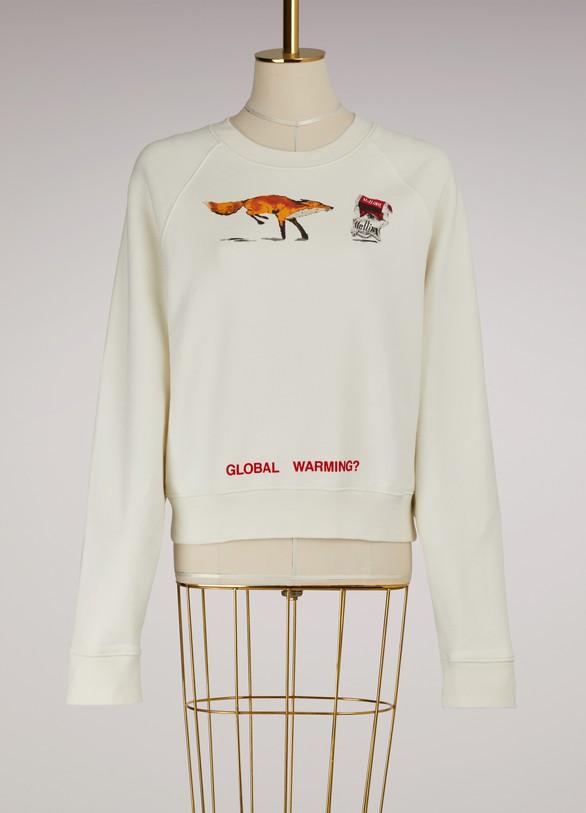OFF WHITESweatshirt court Fox