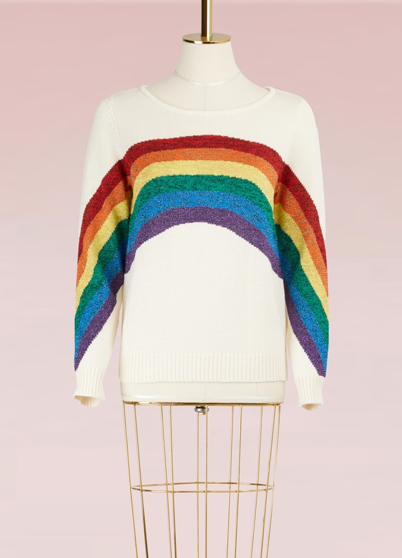 MARC JACOBSPull à rayures manches longues Rainbow