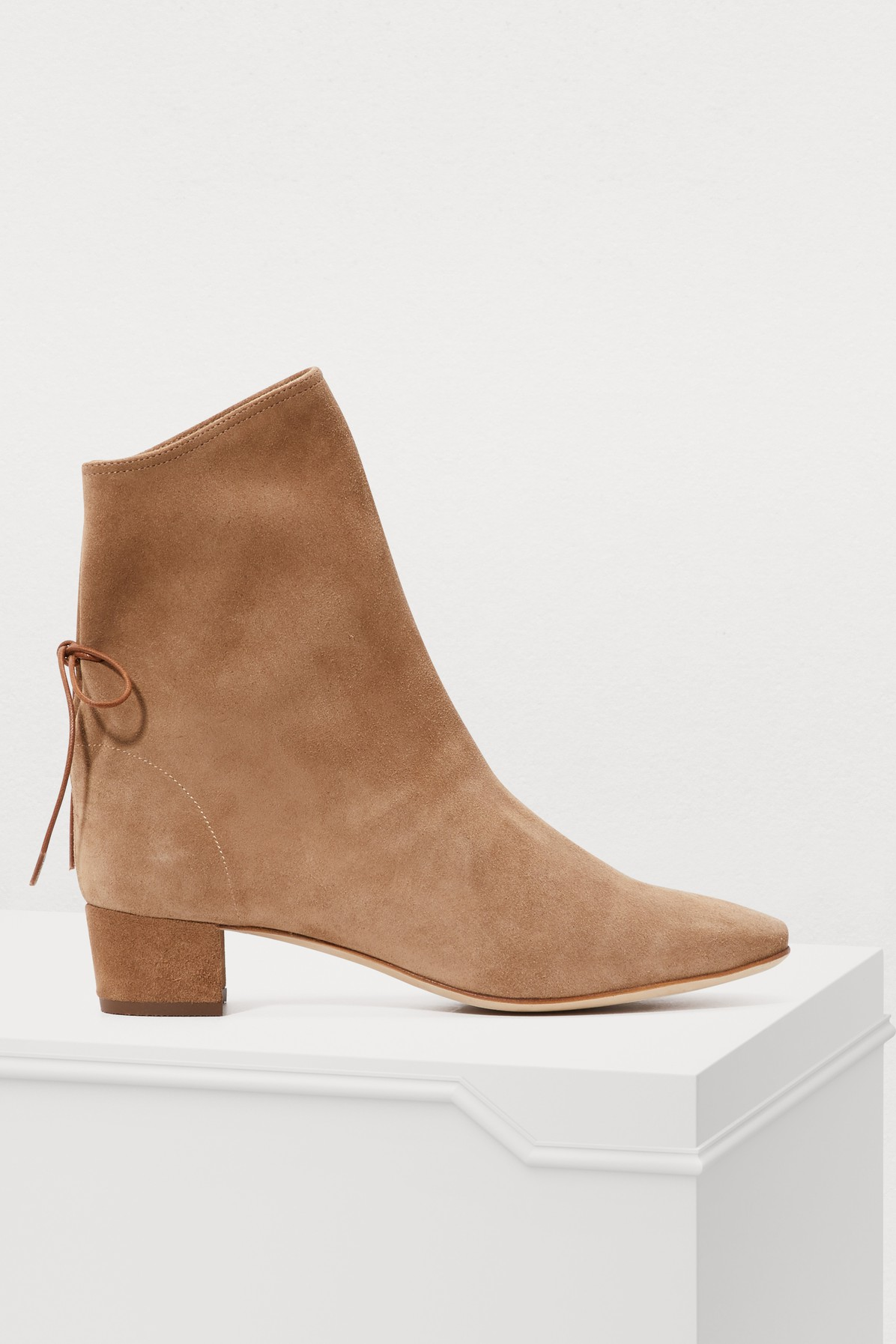 SOLOVIERE | Princess suede ankle boots | Goxip