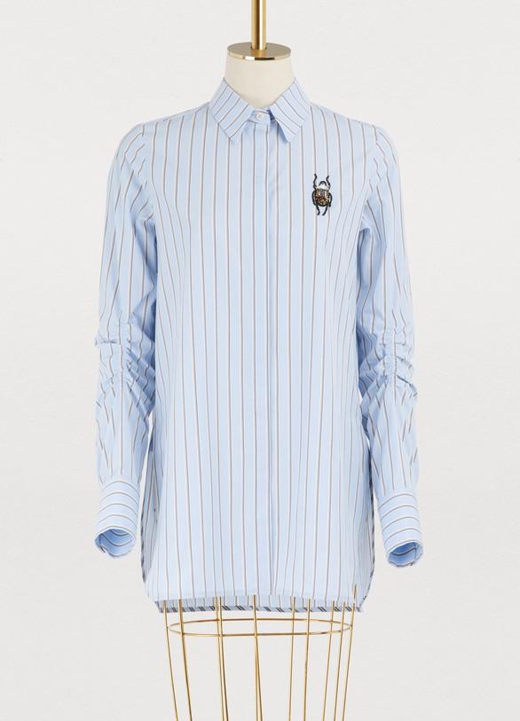 CarvenCotton striped shirt