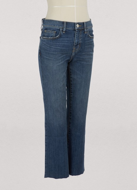 Current Elliott The Kick bootcut jeans with cut hem