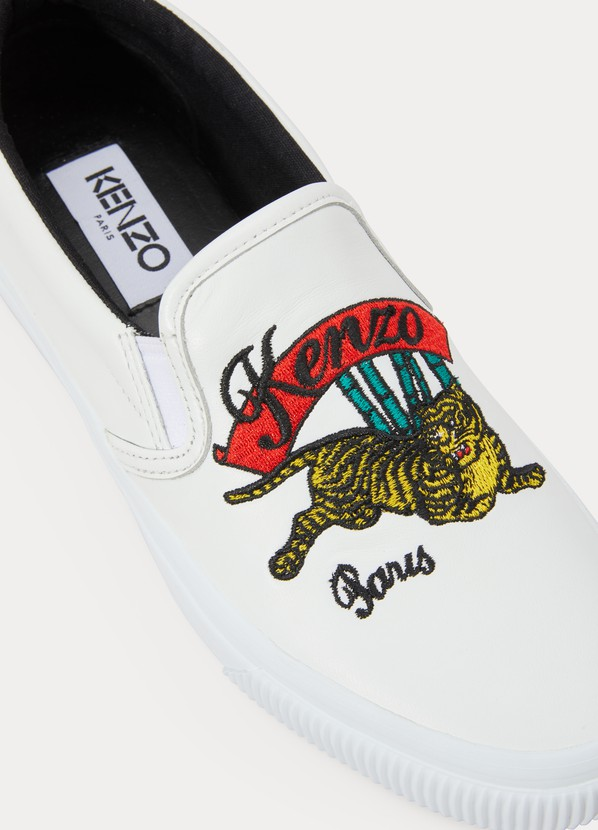 ced7bc5a1ad Kenzo Leather K-skate jumping tiger sneakers ...