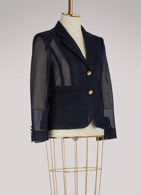 Thom Browne Lace-up back jacket