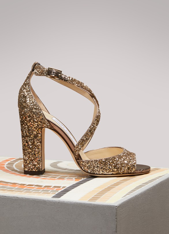 Jimmy ChooCarrie 100 suede sandals