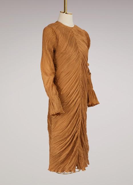 Nina RicciRobe plissée en soie