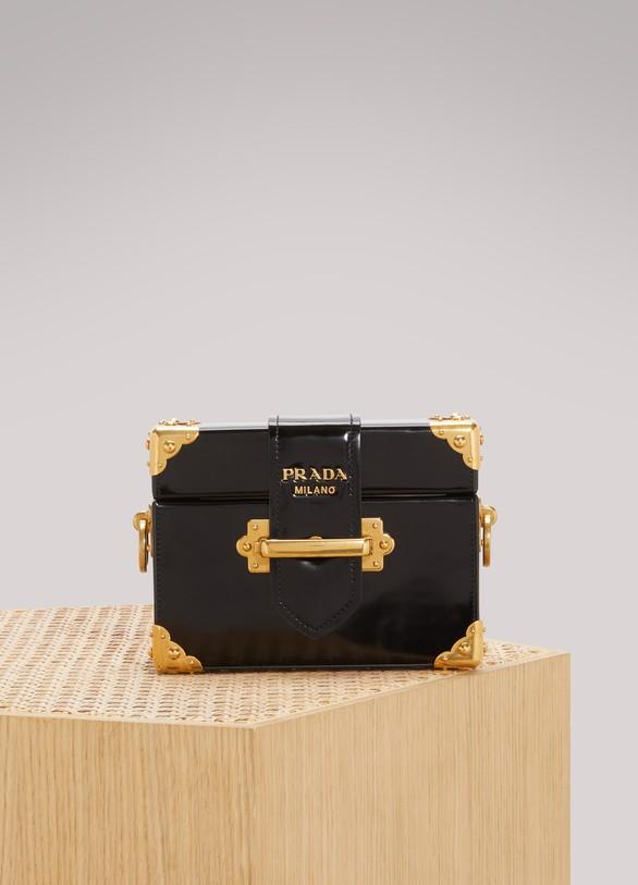 PRADASac Micro Box en cuir de veau