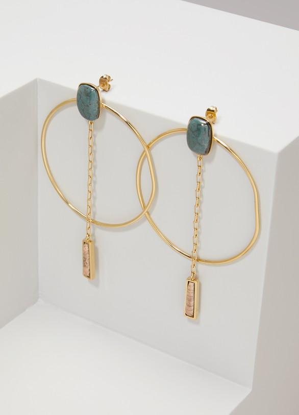 Isabel Marant Brass and Ceramic Earrings