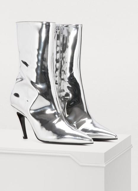BalenciagaSlash silver boots