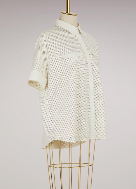 Lamb leather shirt Maison Ullens Brand New Unisex KOLENb