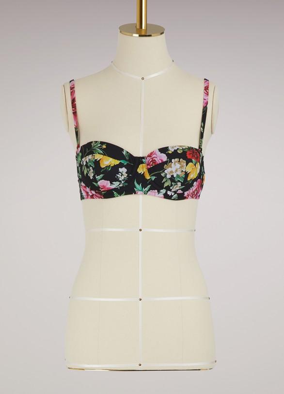 Dolce & GabbanaHaut de maillot fleurs