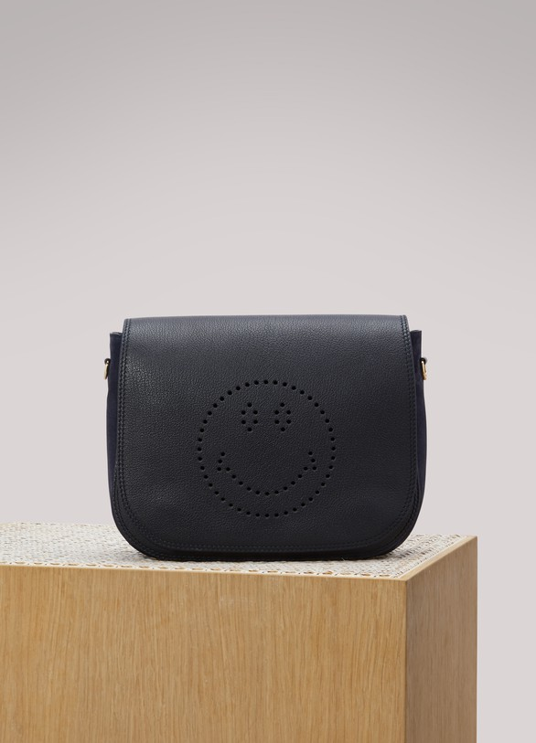 Anya Hindmarch Sac porté épaule Ebury Satchel Smiley