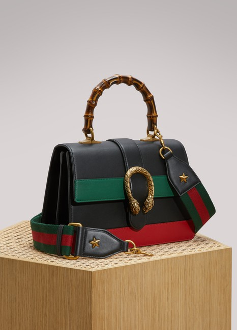 GucciDionysus Leather Handbag