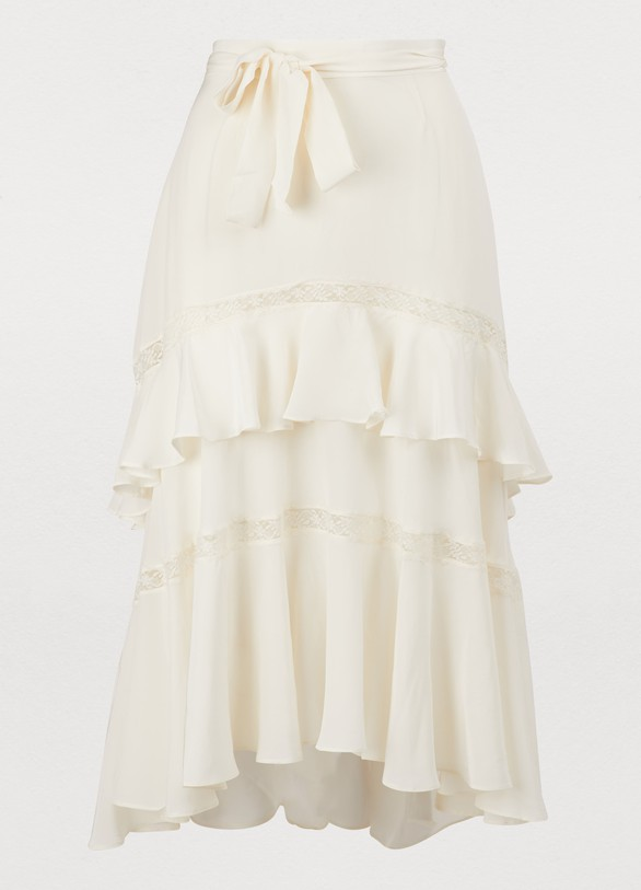7c81b245d Women's Silk midi skirt | Zimmermann | 24 Sèvres