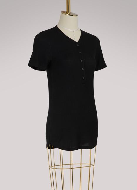 Majestic FilaturesButton-up short-sleeve T-shirt