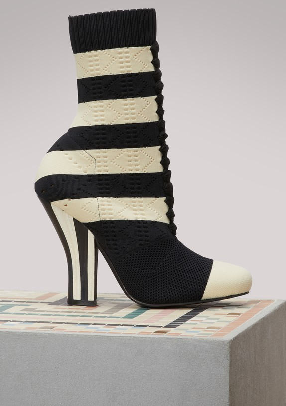 FENDI Bottines-chaussettes