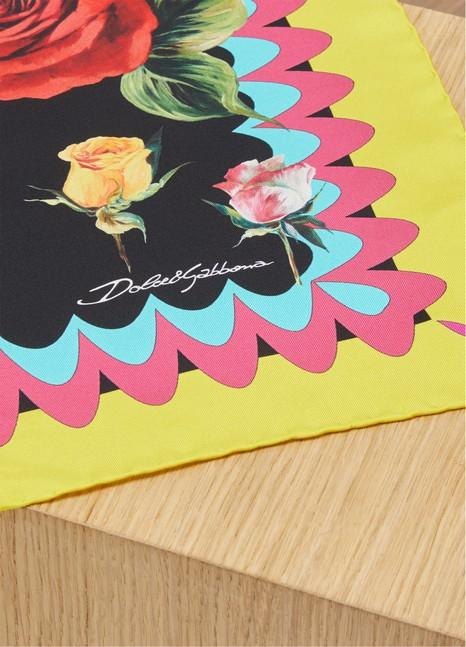 Dolce & GabbanaRoses silk scarf