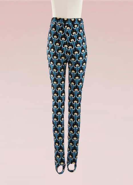 Marni Printed Cotton-Blend Skinny Stirrup Pants