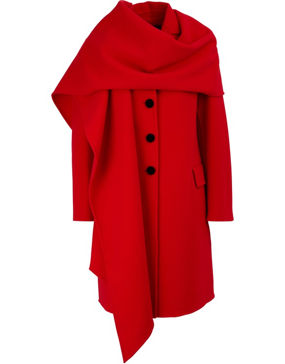 MARC JACOBS Coat with hood-scarf