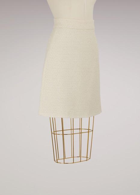GucciJupe trapèze en tweed léger